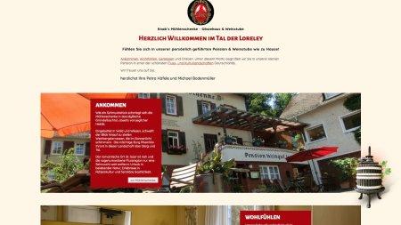 Knabs Mühlenschenke Webseite