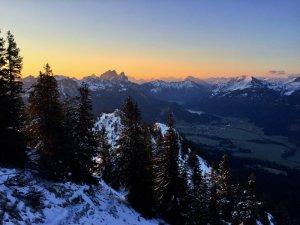 Sonnenaufgang im Tannheimer Tal