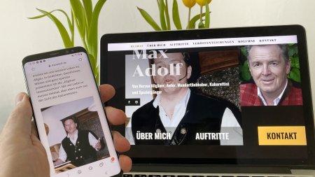 Webseite Max Adolf