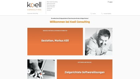 Internetauftritt der Koell Consulting GmbH
