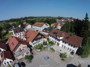 Luftbildaufnahme Altusried Rathaus