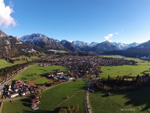 Luftbildaufnahme Oberrstdorf Richtung Süden