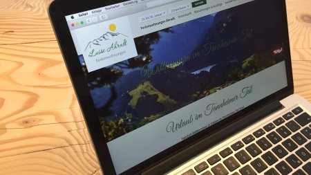 Webseiten - Ferienwohnungen im Tannheimer Tal