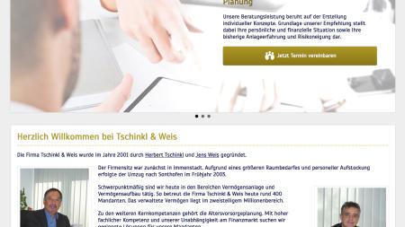 Webprojekt Tschinkl und Weis