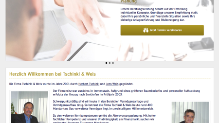 Webprojekt Tschinkl & Weis