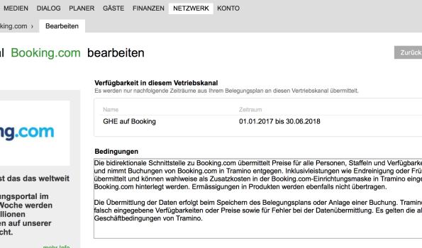 Booking-Anbindung