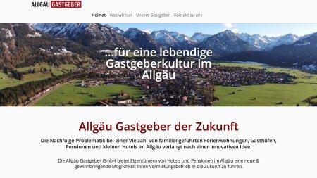 Webseite Allgäu Gastgeber GmbH