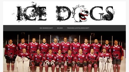 Webseite Ice Dogs Sonthofen