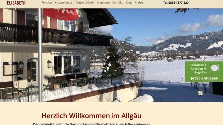 Webseite Gasthof Elisabeth