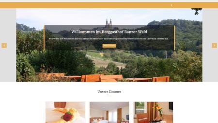 Webseite Berggasthof Banzer