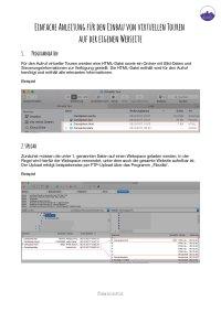 Upload und Einbau per IFRAME