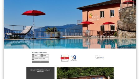 Webseite Hotel Arancio Ascona