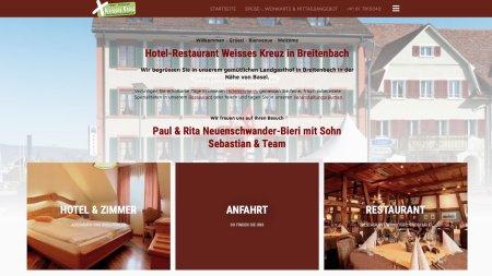 Hotel Weisses Kreuz Breitenbach, neue Webseite