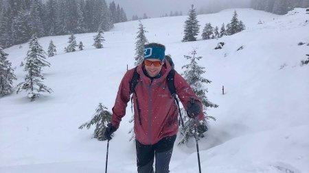 Eine Schneeschutour im Neuschnee - einfach herrlich