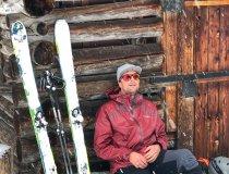 Kleine Pause von der Skitour und einfach einmal den Schneeflocken beim Tanzen zusehen