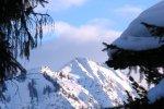 Alma - Blick auf verschneite Berge