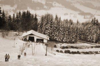 ALMS Brauerei damals Skilift