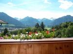 Blick von der Ferienwohnung Nebelhorn