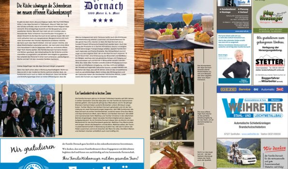 Allgäuer Zeitung 924849 Umbau Alpe Dornach Oberstdorf Korrekturabzug