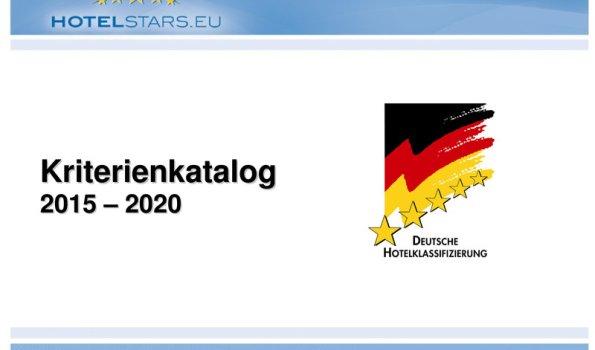 Deutsche Hotelklassifizierung 2015-2020