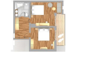 Grundriss Alpin Suite Deluxe Gaisberg
