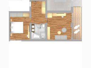 Grundriss Alpin Suite Deluxe Rubihorn