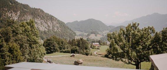 Ausblick aus der Spa Suite Nebelhorn