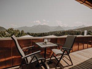 Balkon Spa Suite Nebelhorn