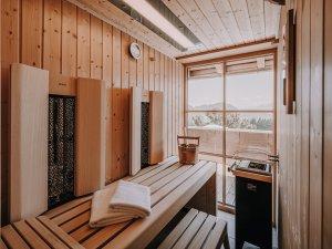 Sauna in der Spa Suite Nebelhorn
