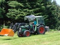 Unser Traktor gefahren von Heribert :-)