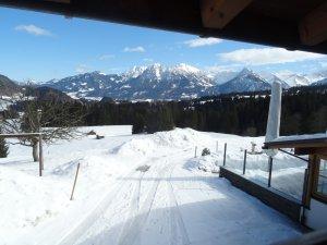 Aussicht aus der Ferienwohnung Nebelhorn