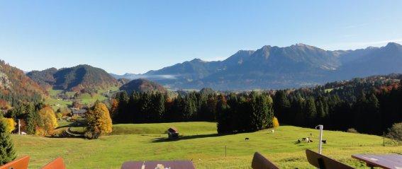 Panorama von unserer Terrasse