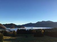 Alpenglühen Ausblick