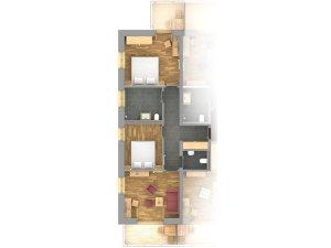 Grundriss Alpin Suite Höfats