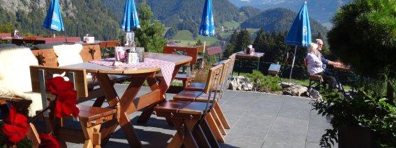 Terrasse Alpe Dornach