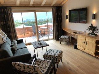 Wohnzimmer mit Schaukelstuhl
