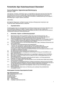 Covid-19 Schutzkonzept Alpe Huberlesschwand