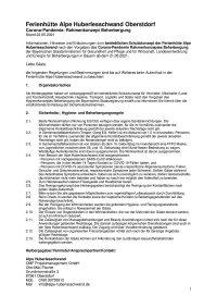 Covid 19 Schutzkonzept Alpe Huberlesschwand