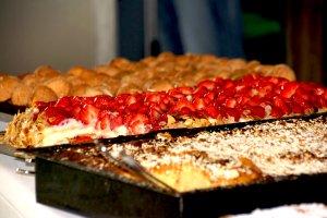 Frischer selbstgebackener Kuchen