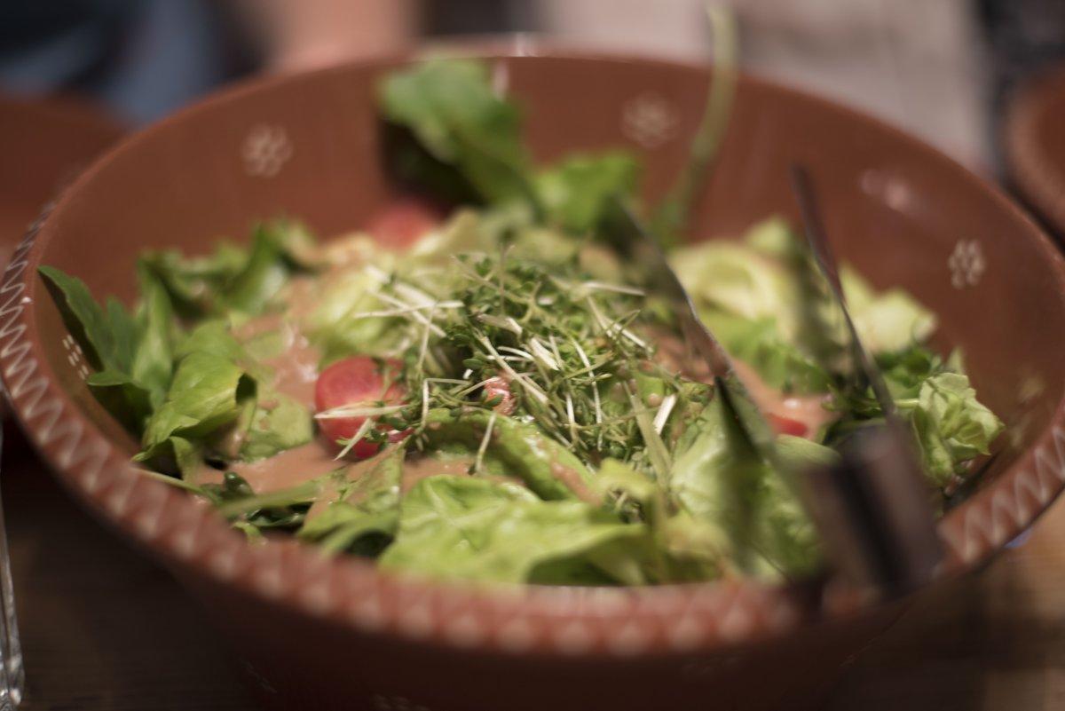 Knackig grüner Salat