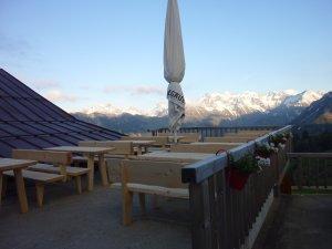 Terrasse auf der Alpe Schlappold