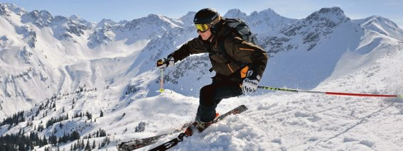 Skifahrer am Fellhorn