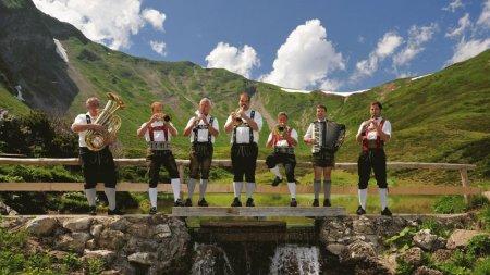 Musiker auf dem Fellhorn
