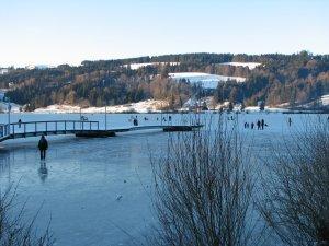 Eislaufen auf dem Großen Alpsee