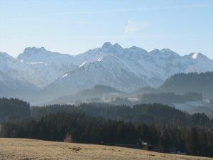 Blick von Tiefenberg auf den Himmelschrofen