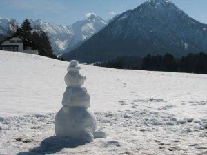 Schneemann am Kühberg