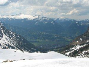 Blick vom Nebelhorn auf Oberstdorf