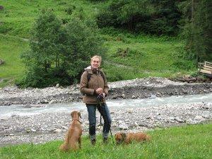 Unser Gast Kerstin mit Hunden