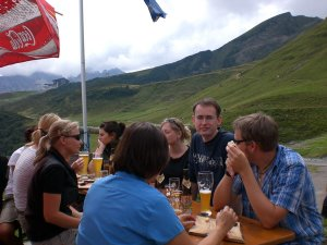 Brotzeit auf der Alpe Schlappold
