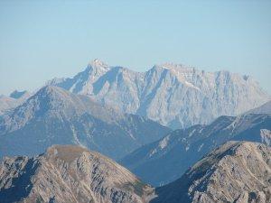 Vom Nebelhorn Blick auf die Zugspitze